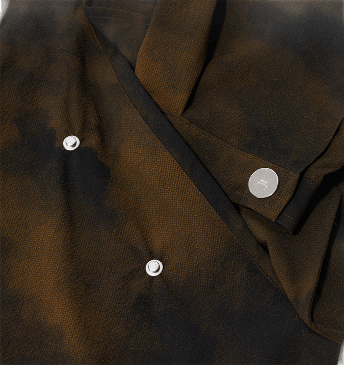 Terrain Print Parka Brown