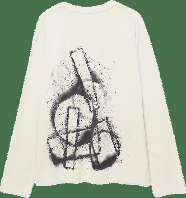 Stencil Long Sleeve T-shirt Gray