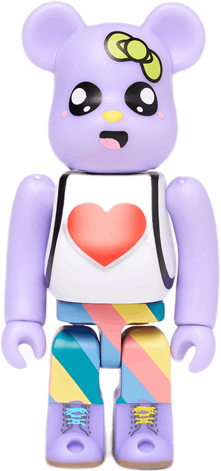 X Medicom Toy 00´s Purple Bear Multi