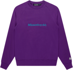 Embroidered Serif Logocrewneck Purple