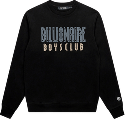 Straight Logo Crewneck Black