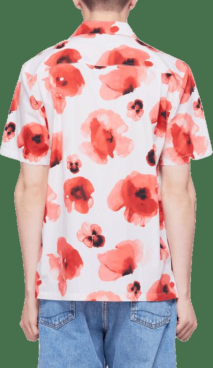 Manakai Woven Short Sleeve Shi White