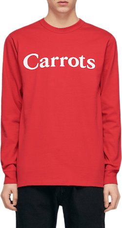 Carrots Wordmark Long Sleeve Red
