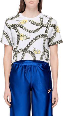 W Cropped T-shirt White