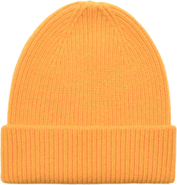 Merino Wool Beanie Yellow