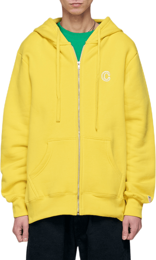 C Patch Zup Up Hoodie Yellow