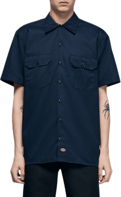 Short Sleeve Work Shirt Blue