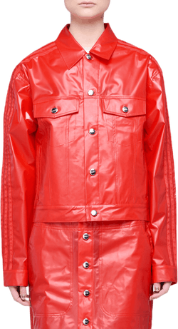 X Fiorucci Kiss Jacket Red