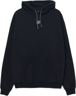 Embroidered B Midweight Hoodie Black