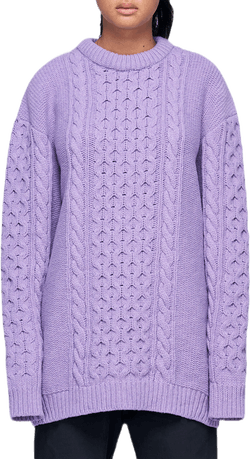 Boyfriend Knit Purple