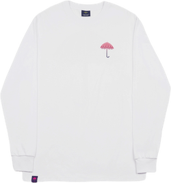 Degrade Long Sleeve Tee White