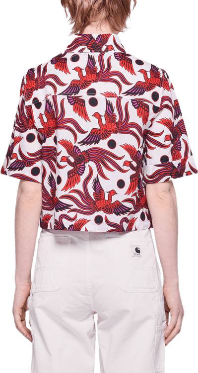Cropped Shirt Red