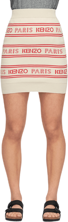 Kenzo Paris Skirt White