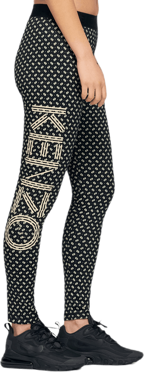 Kenzo Logo Ikat Leggings Black