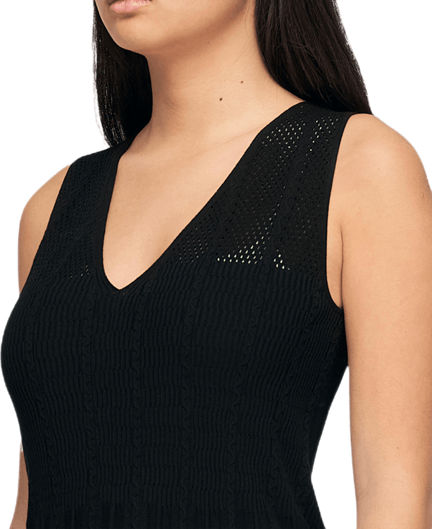 Knit Midi Dress Black