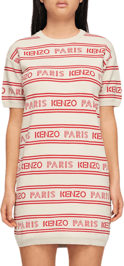 Kenzo Knit Dress White