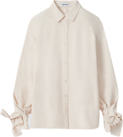 Trench Coat-style Shirt White