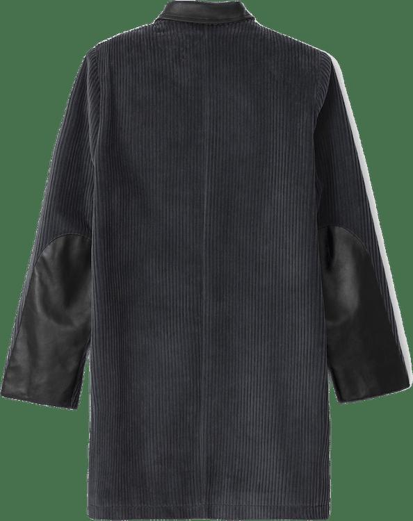 Straight Corduroy Coat Gray