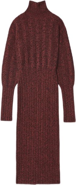 Textures Knit Dress Red