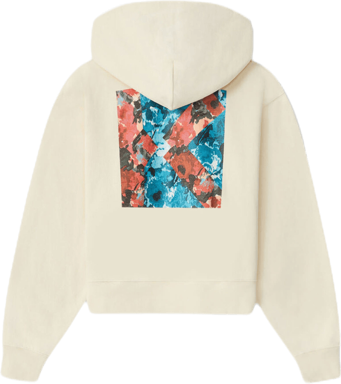 Aquarelle K Boxy Hooded Sweats White
