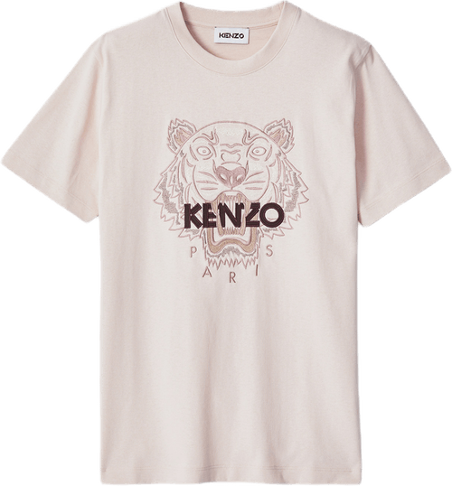 Tiger Loose Fitting T-shirt Pink