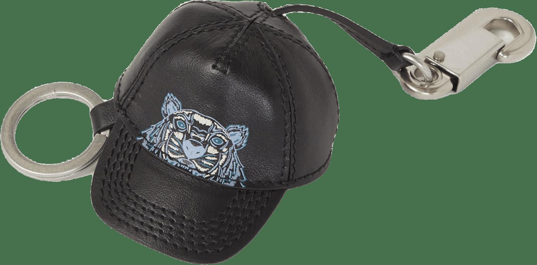 Cap Tiger Keyring Black