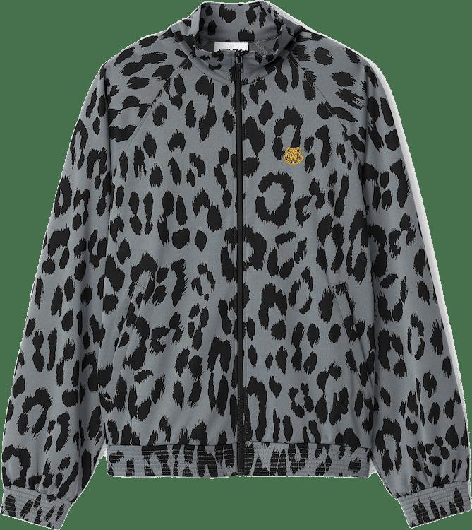 Leopard Jacquard Jacket Blue