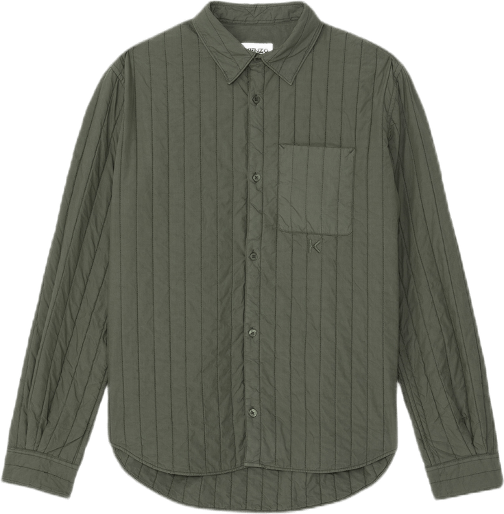 Quilted Casual Shirt Green