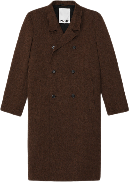 Double Breasted Coat Brown