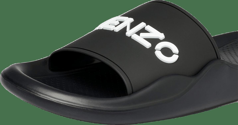 Mens Pool Kenzo Logo Flip Flop Black