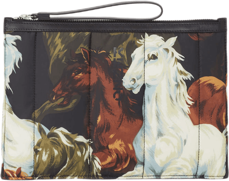 Chevaux Kenzo Large Pouch Black