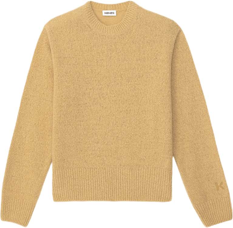 Wool Recycled Cashmere Jumper Khaki