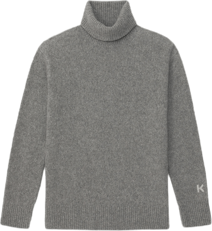 Wool Recycled Cashmere Turtlen Gray