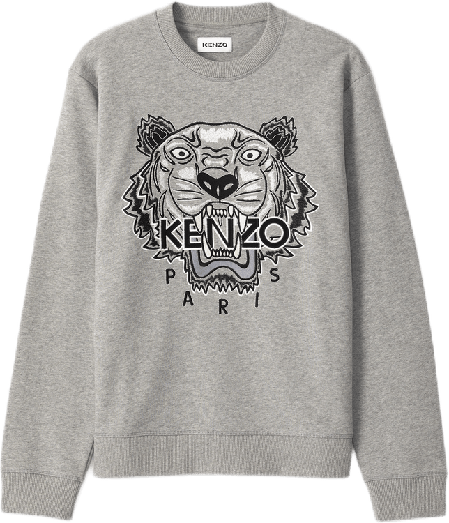 Varsity Tiger Crewneck Gray