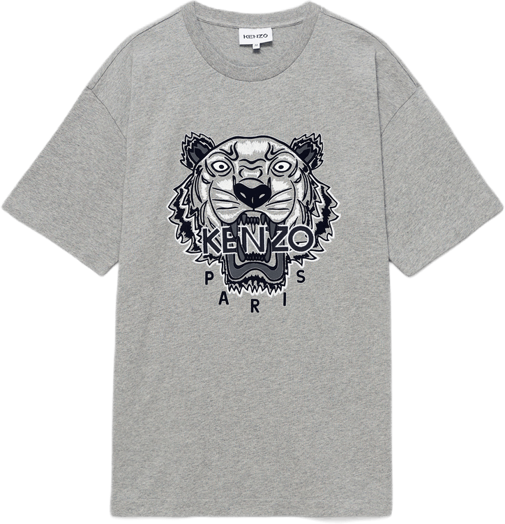 Tiger T-shirt Gray