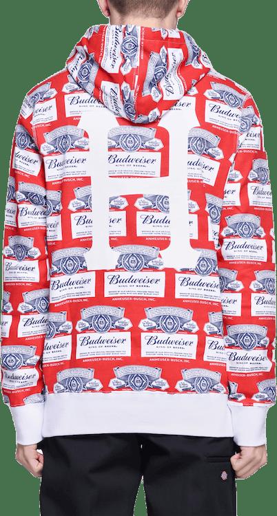 X Budweiser Label Hoodie Red
