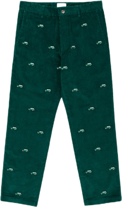 Corduroy Car Pants Green