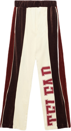 Velour Track Pant Brown