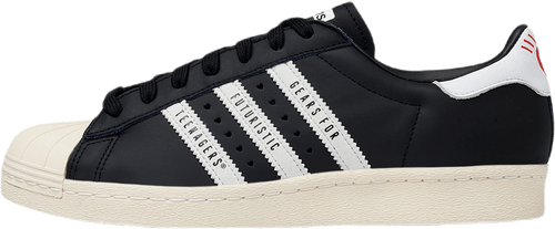 X Human Made Superstar 80s Black