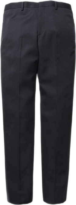 Regular Fit Wool Trousers Black