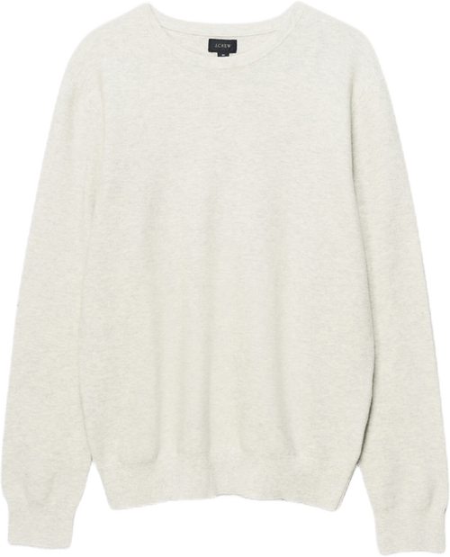 Cotton Crewneck Sweater In Gar Gray