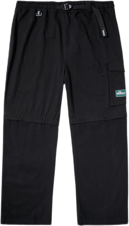 Hiking Zip Off Cargo Pants Black