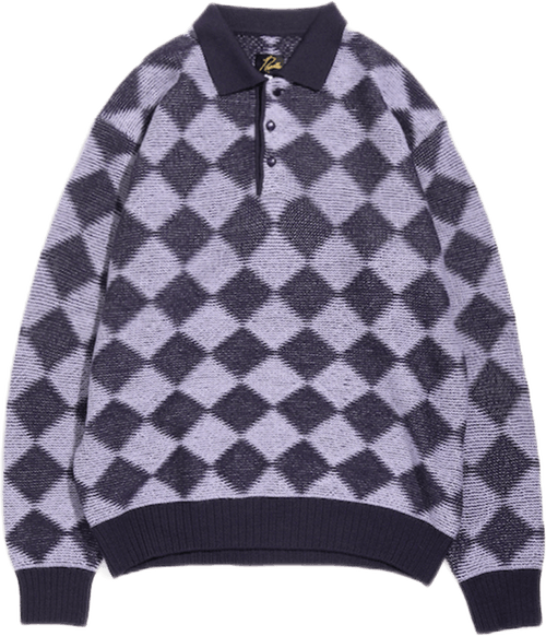 Polo Sweater Checkered Multi