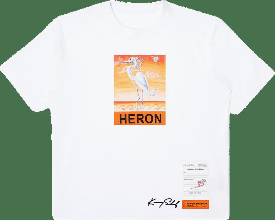 Ss T-shirt Reg Ks Heron White
