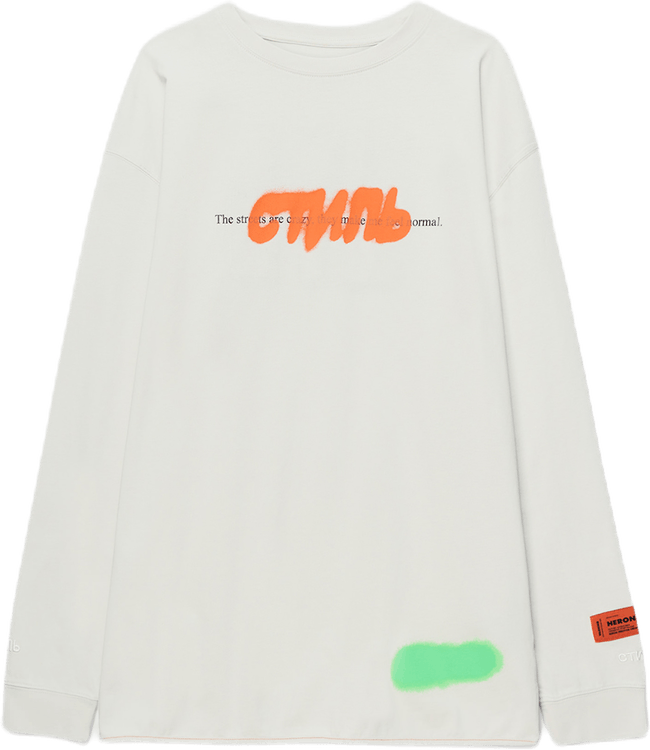 T-shirt Reg L/s Ctnmb Spray Gray