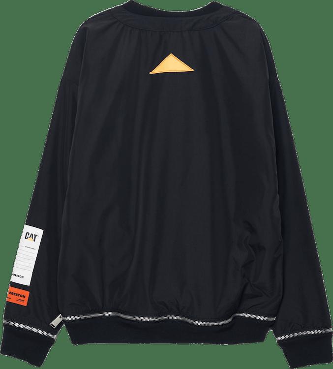 Cat Zip Crewneck Nylon Double Black