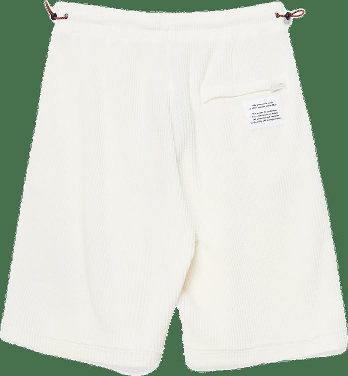 Waffle Shorts Heron Bold White