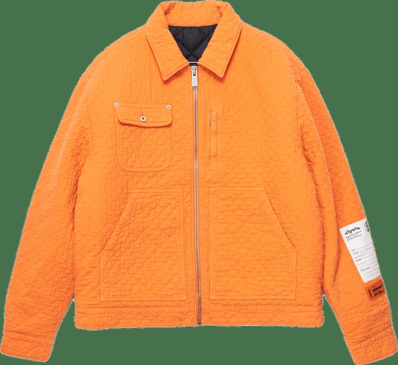 Matelasse´ Zip Jacket Orange