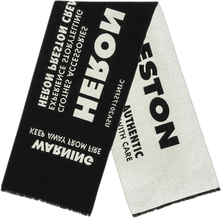 Heron Preston Jacquard Scarf Black