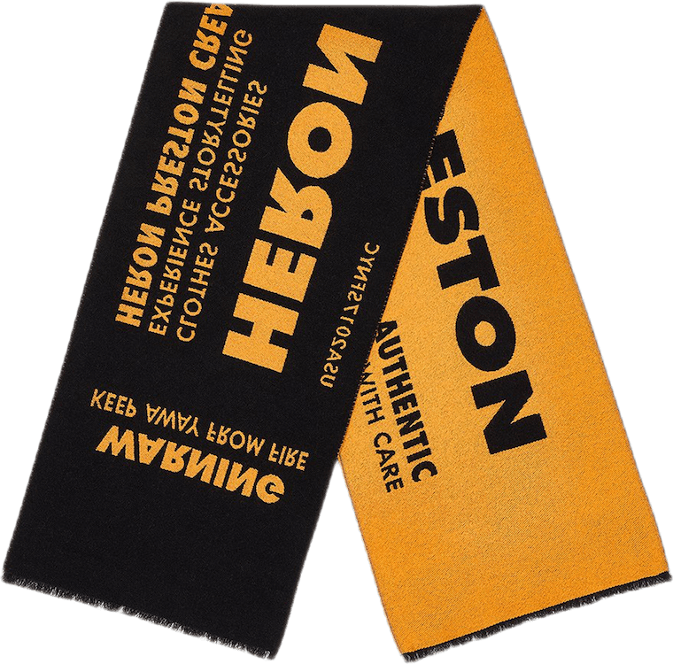 Heron Preston Jacquard Scarf Orange